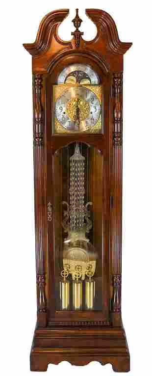 Sligh Mahogany Grandfather Clock