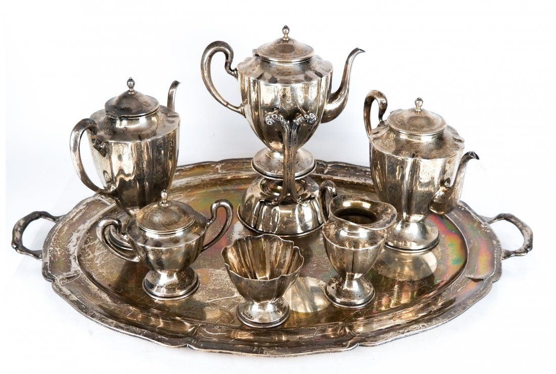 7-Piece Mexican Sterling Silver Coffee Service