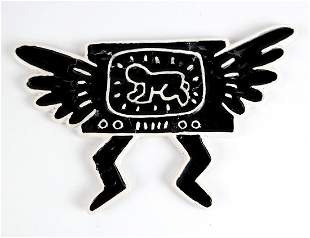 Keith HARING: Radiant Baby In Winged TV - Ceramic