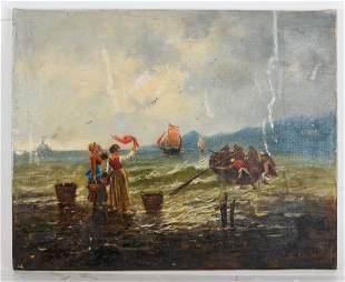 B> STIEBER: Sailing Away - Oil Painting