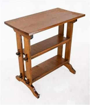 Arts & Crafts Oak Three-Tier Side Table