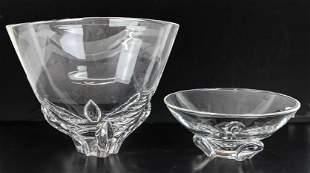 Two Steuben Crystal Bowls