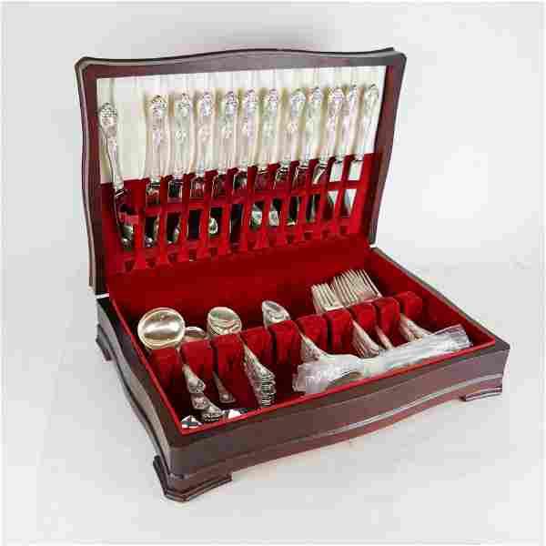 78-Pc. Alvin Sterling Silver Flatware Set