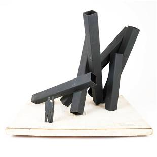 """Studio Maquette for """"Big Six"""" with Figures, Welded"""