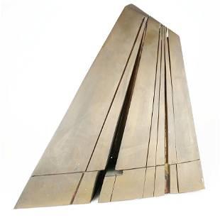 Untitled, Geometric Polished Bronze