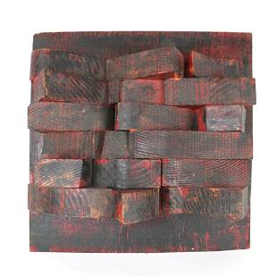 Untitled, Painted Wood Assemblage