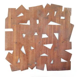 """""""Rusted Wall Piece"""" Variation, Oxidized Steel"""