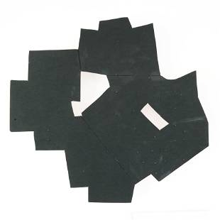 Untitled, Black Abstract Sculpture