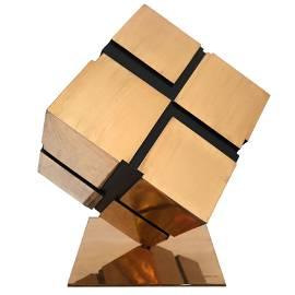 Untitled (Tony Rosenthal's Cube), Polished Bronze
