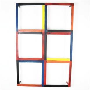 """""""Six Square,"""" Painted Aluminum"""