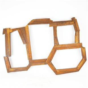 Untitled, Rusted Steel Wall Sculpture