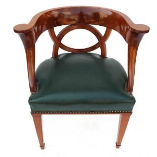 Early 19th C. Mahogany Arm Chair