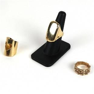 Lot of Three (3) 14K Gold Rings