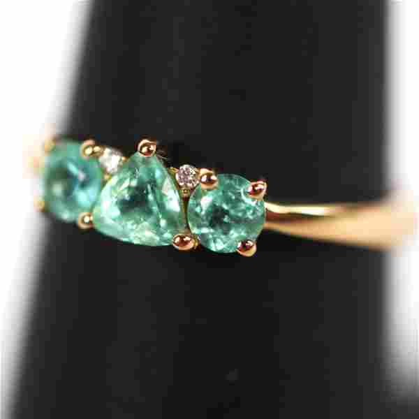 Chromia Tourmaline & Diamond Ring