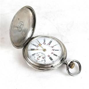 Vintage Longines Silver Pocket Watch