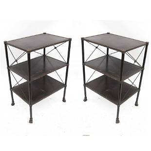 Neoclassical-Style 3-Tier Bookshelf