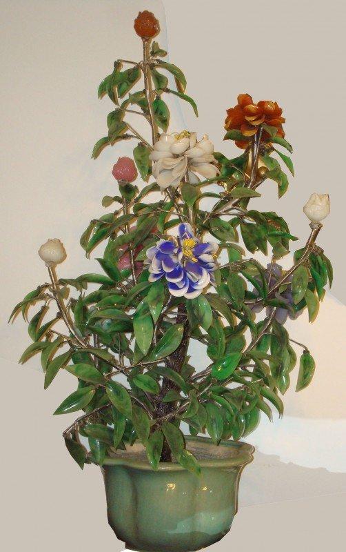 2: Celedon & Jade Planter w/ Flowers