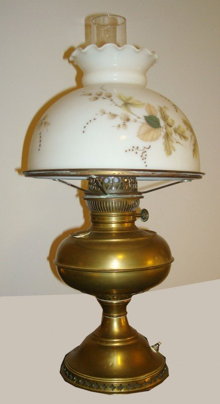 """4: Brass """"Gone With The Wind"""" Lamp"""