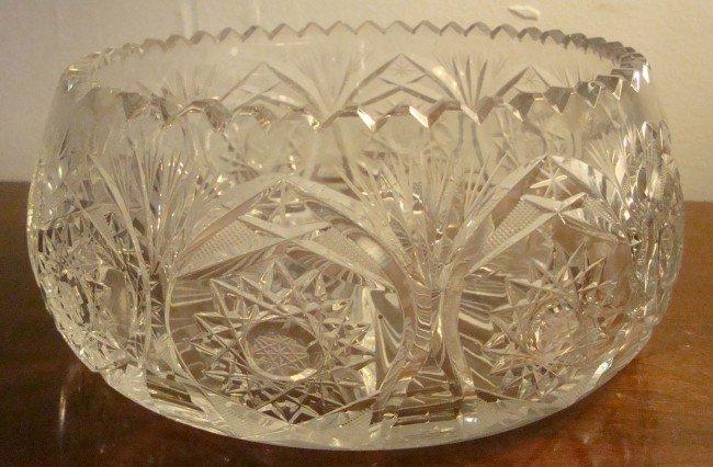 9: Cut Glass Bowl