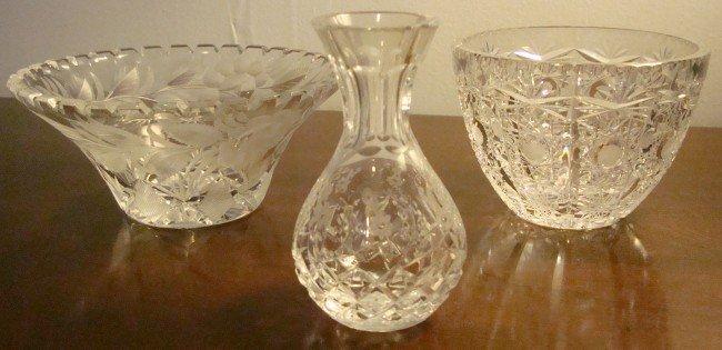 10: Three Piece Cut Glass