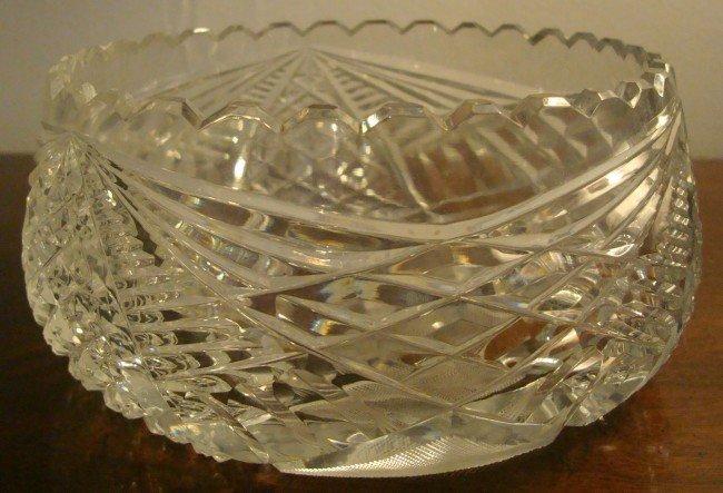 11: Cut Glass Bowl