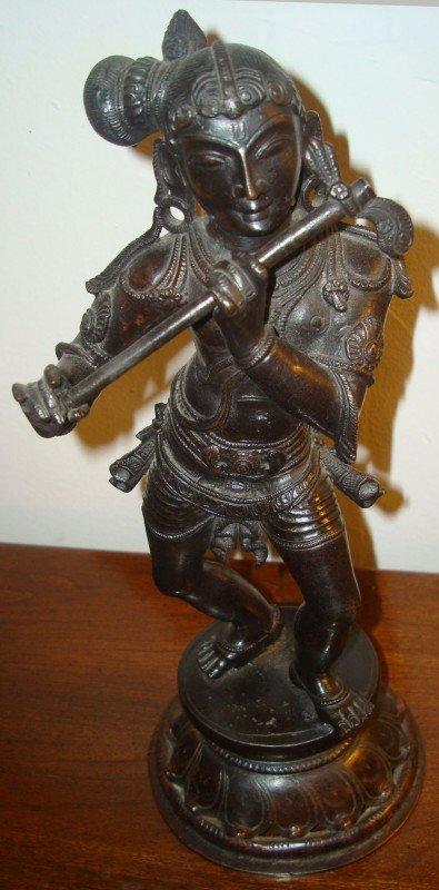 17: Antique Oriental Bronze Warrior
