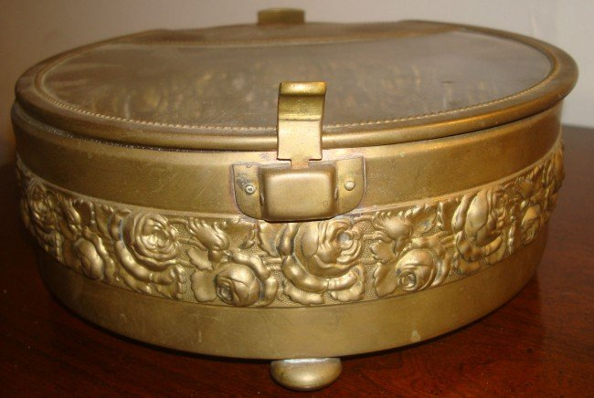 18: Brass and Crystal Covered Jewelry Box