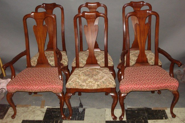 20: Set of Six Queen Anne Dining Room Chairs