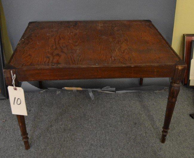 10: Mahogany Sheraton Style Bench