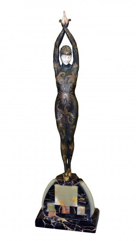 209: After Demetre Chiparus Bronze