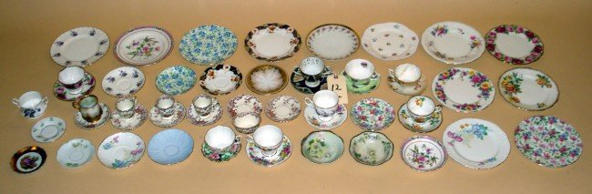 12: Porcelain Teacups and Luncheon Plates