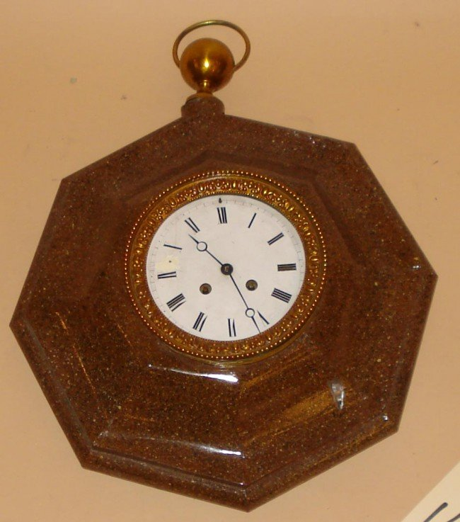 14: Faux Marble Tole Wall Clock