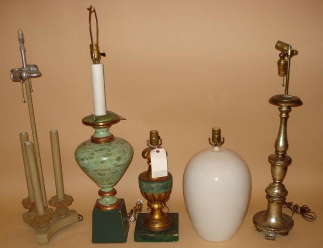 16: Five Assorted Lamps