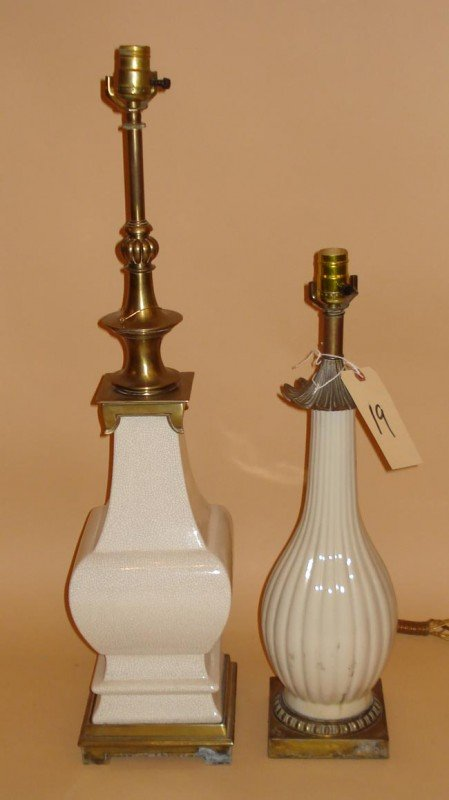 19: Two Oriental Design Lamps