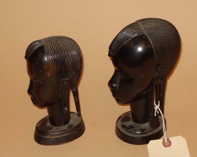 23: Two Lacquered Heads