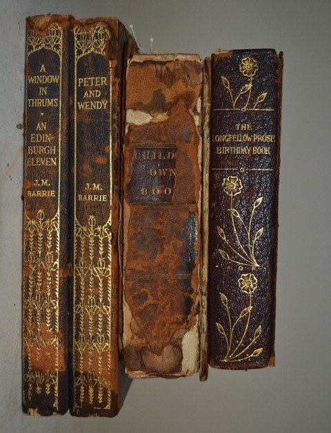 11: Four Leather Bound Books