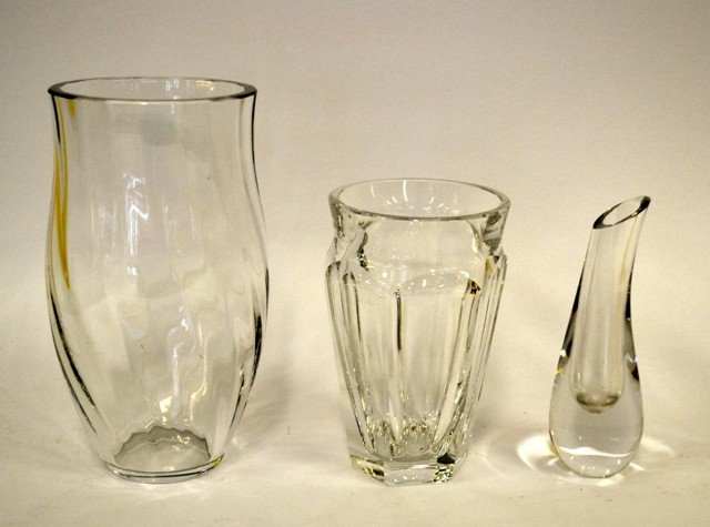 14: Three Bacarat Crystal Vases