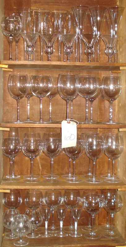 60: Miscellaneous Group of Glass Stemware