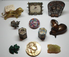 Assorted 11 Piece Lot Including Bronze Lion, Bronze