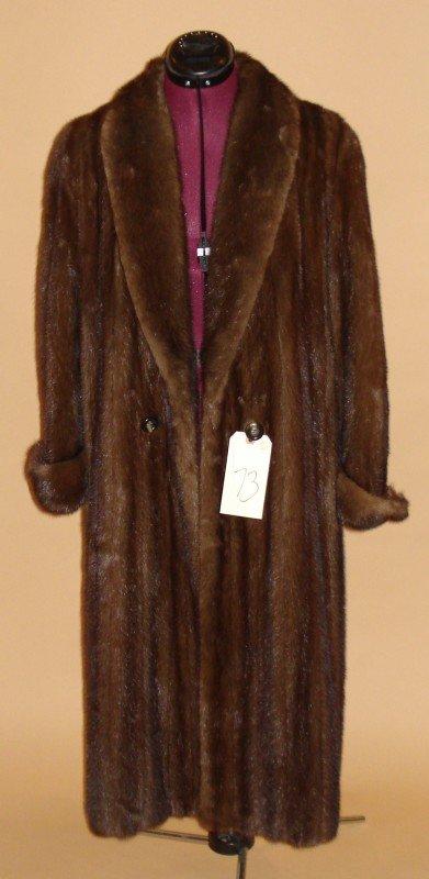 73: Vintage Fur Full-Length Coat
