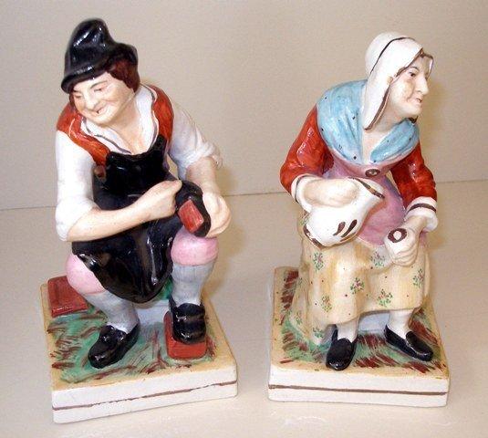 148: Staffordshire, Pr antique Staffordshire Figures