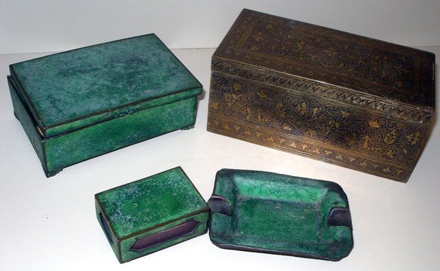 149: Metal Objects, Group of Boxes One Shagreen Style