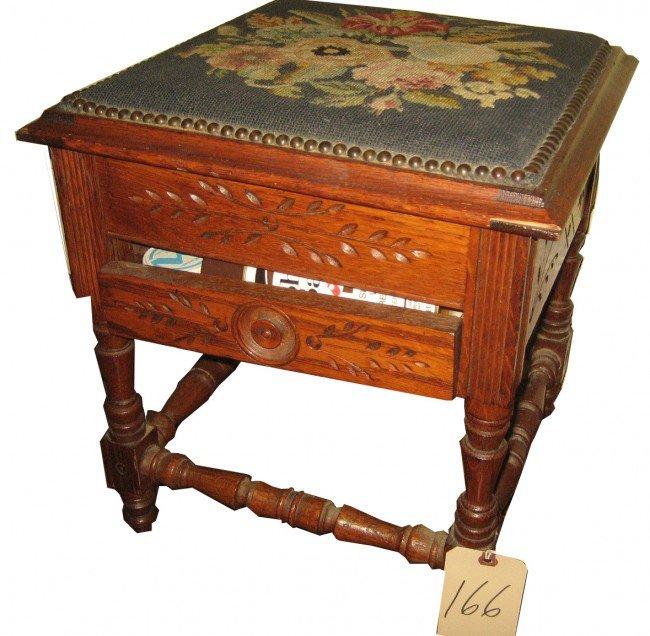 166: Oak Shoeshine Box