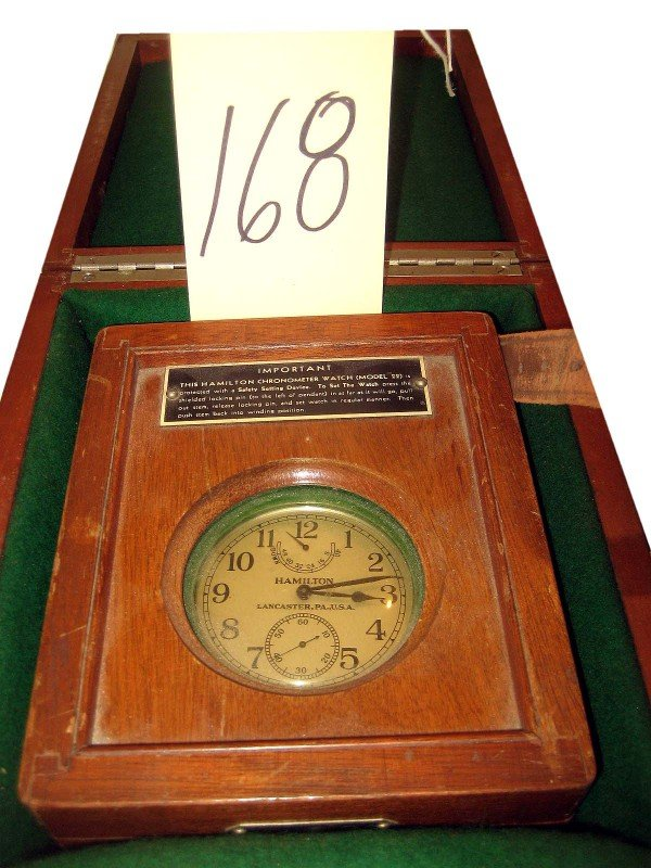 168: Hamilton Chronometer in Case