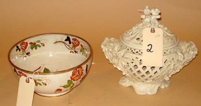 2: Royal Caldon Bowl Floral Pattern