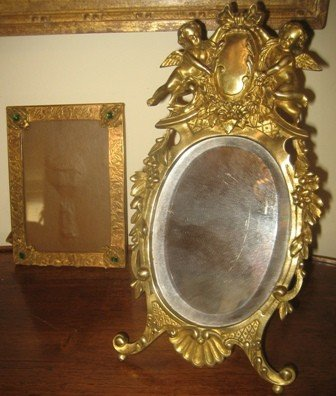 5: Bronze Cherub Mirror and Frame