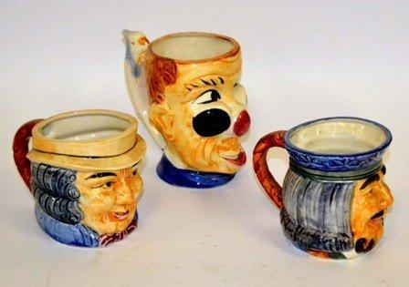 18: Occupied Japan Three Toby Mugs