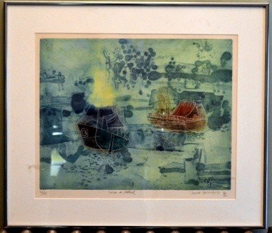22: Shiochi Hasegawa Japenese Lithograph