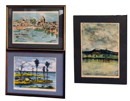 24: Three Lithographs, Various Artists