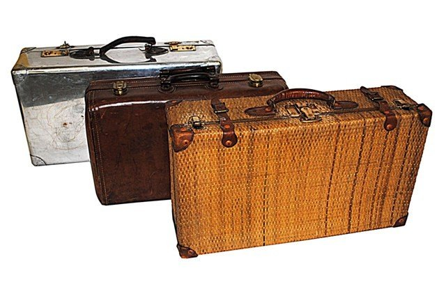 23: Group of Three Mid Century Suitcases